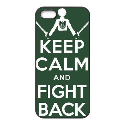 Attack On Titan coque iPhone 4 4S Housse téléphone Noir de couverture de cas coque EBDOBCKCO14229