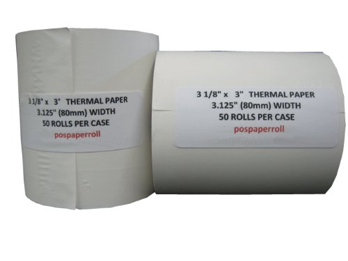- Sparco Thermal Paper Roll, 3-1/8 x 230-Feet, 50 Count, White (SPR25346)