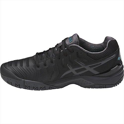 Chaussures Homme Asics Gel Tennis 7 resolution Black Blanc dark argent lapis Grey De qY6Ytr