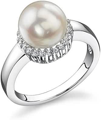 8.0-8.5mm Akoya Cultured Pearl Ashley Ring