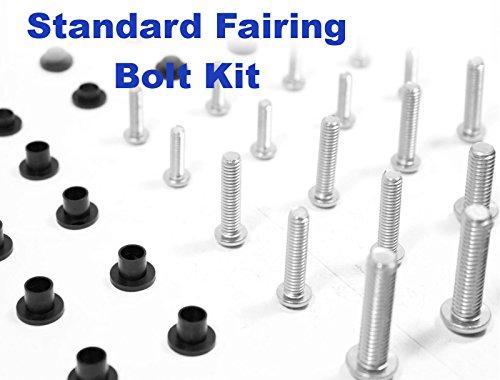 Standard Motorcycle Fairing Bolt Kit Suzuki GSX-R 600 / 750 2011 - 2015 Body Screws, Fasteners, and Hardware (Motorcycle Standard Windscreen)