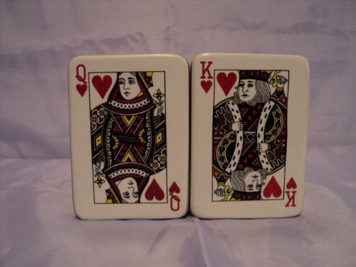 Poker Cards Salt and Pepper Shaker Set by Pacific Giftware (Image #1)