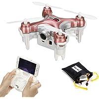 REALACC CHEERSON CX-10WD-TX 2.4G Remote Control 4CH 6-Axis Nano Wifi FPV Mini Quadcopter Drone with HD Camera (Rose Red)