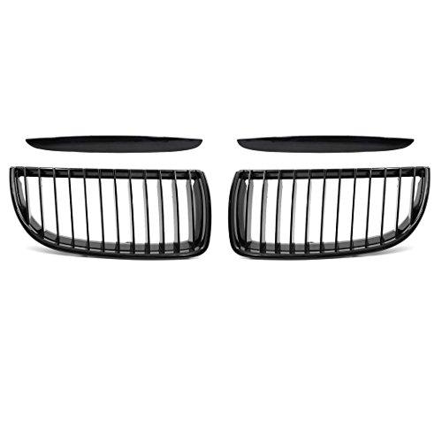 uxcell 2pcs Glossy Black Front Bumper Kidney Grill Grille for 2005-2008 BMW E90 E91 4 Doors Sedan 323i 328i 328xi 335i 335xi 330i 330xi 320i 325i 325xi