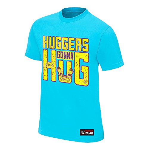 WWE Bayley Hugger's Gonna Hug Authentic T-Shirt Light Blue Large