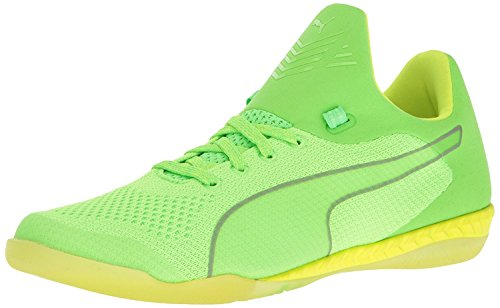 Puma Mens 365 Evoknit Ignite CT Soccer Shoe, blanco, amarillo, verde (Green Gecko White/Safety Yellow), 42 D(M) EU/8 D(M) UK