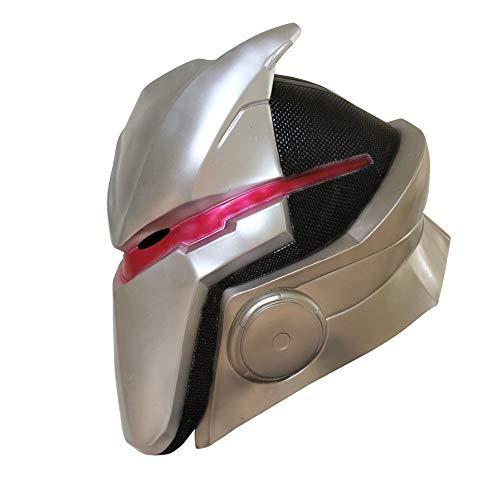 MostaShow Game Omega Oblivion Link Adult Latex Head Led Masks Cosplay Costume Helmet Halloween Mask Dance Party Props (Without led mask)]()