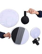 بطاقة رمادية اللون متعددة الاستخدامات ومحمولة من كوبيك مقاس 12 بوصة (31 سم) لتوزيع الضوء لمصباح سوفت بوكس اليدوي بالفلاش السريع