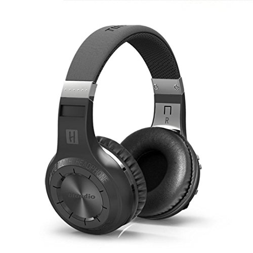 Price comparison product image Wireless Headphones, AutumnFall Stereo Bluetooth Headphones with Microphone Over-ear Foldable Portable Music Headsets for Cellphones Laptop Tablet TV Headphones (Black)