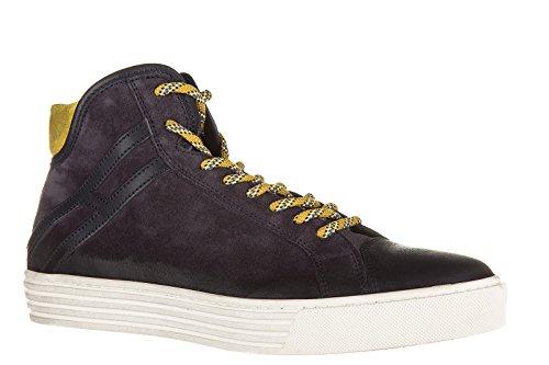 Hogan Rebel chaussures baskets sneakers hautes homme en daim rebel 206 polacco b