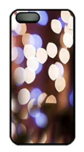 Protective PC Case Skin for iphone 5 Black PC Case Back Cover Shell for iphone 5S with Abstract Dots