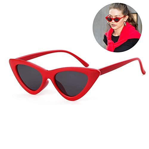 Cat Eye Sunglasses for Women Narrow Vintage Cateye Sun Glasses Plastic Frame -