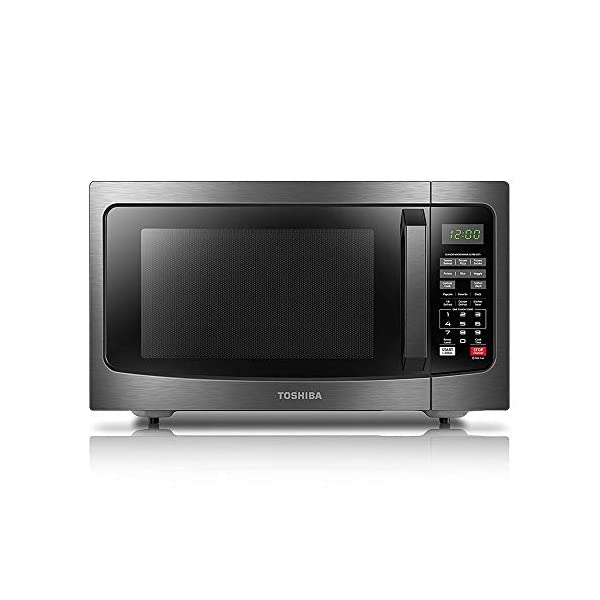Toshiba EM131A5C-BS Microwave Oven with Smart Sensor, 1.2 Cu.ft, 1100W, Black Stainless...