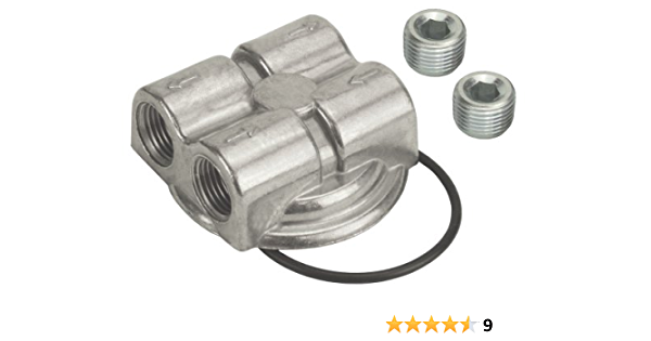 Derale 15703 Engine Spin-On Adapter,Silver