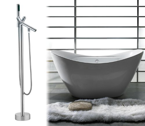 AKDY Bathroom Bathtubs Freestanding Acrylic Bath Tub With Faucet ...