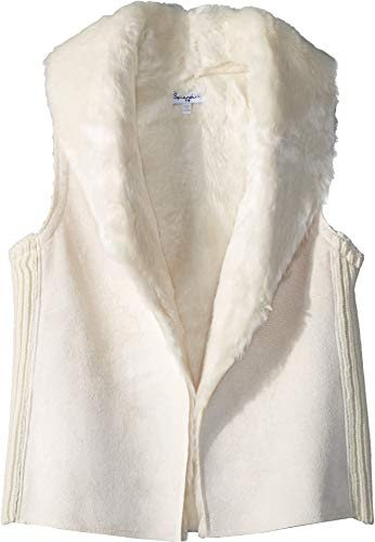 Splendid Girls' Big Faux Fur Vest, Off Off White, 10 (6pm Splendid)