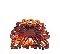 Caravan French Flare Open Sun Flower Hair Claw Tortoises Shell, Small, .65 Ounce