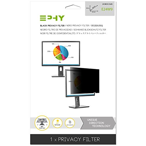 EPHY Privacy Filter / Anti-Glare / Screen Protector For Laptop Tft Monitor Desktop Pc Lcd Led Screen 24 inch 16:9 by EPHY