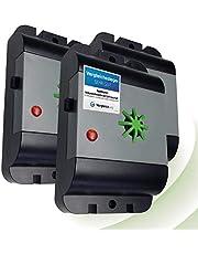 ISOTRONIC Muizenafweer/rattenafweer met ultrasone geluid, regenwaterdicht, ongedierteverjager, elektronisch voor huis, kelder, tuin, muizen en ratten, zonder chemicaliën