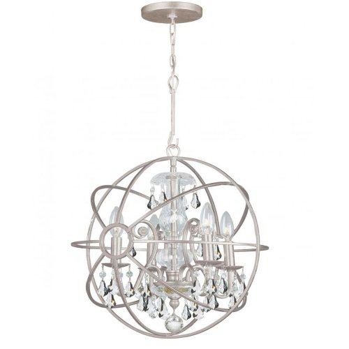 Crystorama Lighting 9025-OS-CL-MWP Chandelier with Clear Crystals, English Bronze