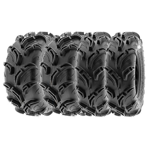 (SunF Mud Trail Replacement ATV UTV 6 Ply Tires 27x9-12 & 27x11-12 Tubeless A048, [Set of 4])