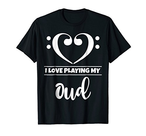 Double Bass Clef Heart I Love Playing My Oud T-Shirt
