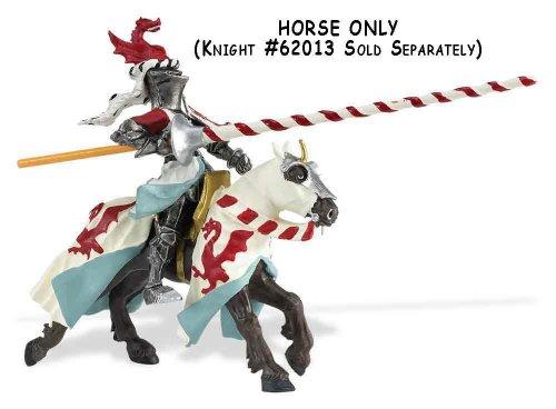 Knights: Horse with White Robe & Dragon (Robe Safari)