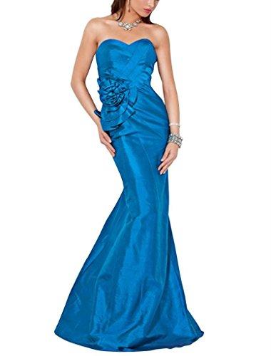 Sweep GEORGE Trompete Liebsten Abendkleid Perlen Applikationen Zug Tuerkis BRIDE mit Meerjungfrau qIIFwOS