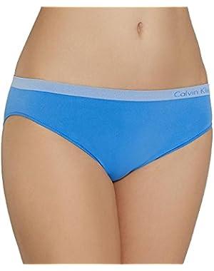 Calvin Klein Underwear Women's Pure Seamless Bikini Panties, Optic Blue, Medium