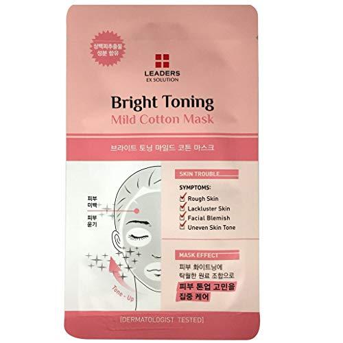 Leaders Brighting Moisturizer Mild Cotton Face Mask | Skin Tone Radiance & Refreshing | Top Dermatologist Recommended Skin (Gentle Leader Treats)
