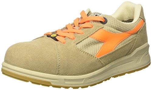 Diadora Unisex Adults' D-Jump Low S1p Esd Work Shoes, Off White (Beige Safari/Arancio Flame), 6 UK