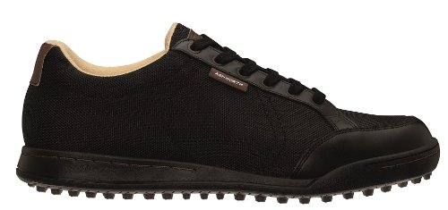 Scarpe Da Golf Ashworth Uomo Cardiff In Pelle Nero / Marrone Scuro