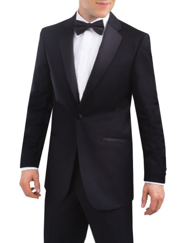 Alexander Dobell Men's Notch Lapel 1 Button Tuxedo Jacket