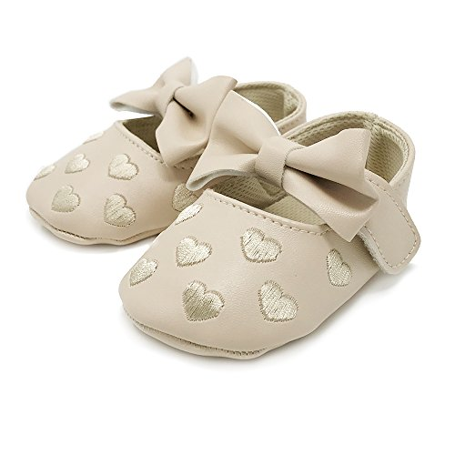 rs Baby Boys and Girls Soft Soled Fringe Crib Shoes PU Moccasins - Light Tan (for ages 6-12 months/12 cm length) (Baby Phat Shoes Boots)