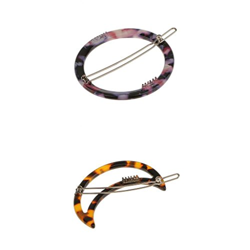 2Pcs Moon Elastic Hair Tie Bands Hollow Circles Ponytail Holders Jewelry