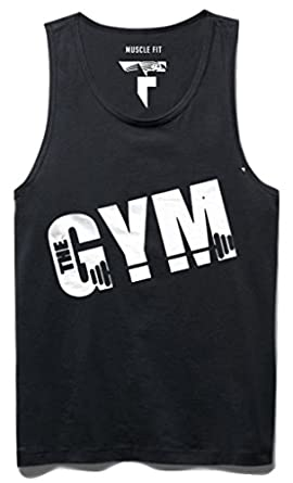 c44a9fdc Amazon.com: DashX The Gym Sleeveless Mens T-Shirt Tank Top Sando, X ...