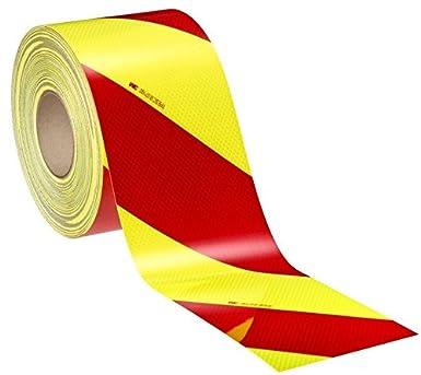 3 M Retroreflektierende Folie Rot Gelb Zitrone Fluorid Ebene Iii Diamond Grade Ref 4083 33 Din