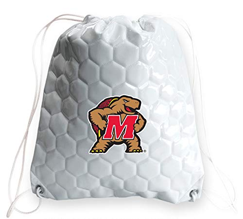 - Zumer Sport Maryland Terrapins Soccer Ball Leather Drawstring Shoulder Backpack Bag - Made from The Same Exact Materials as a Soccer Ball - White