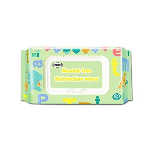 Antibacterial Wet Wipe Tissue Clean Hand Health Care 80 wipes/pack Alcohol-Free Hand Sanitizer Wipes for at-Home Use, Septic and Sewer Safe