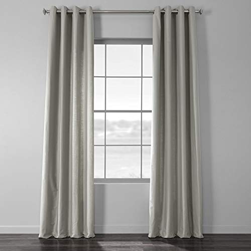 HPD Half Price Drapes CCLK-1805A-96-GR Solid Country Cotton Grommet Curtain, 50 X 96, Shark Grey