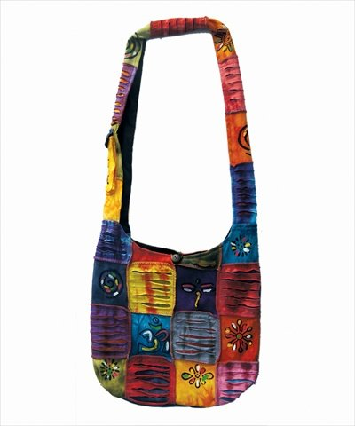 Amazon.com: Rising International Inc Rainbow Patch Hobo Bag Multi ...
