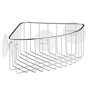 Nice InterDesign Rondo, Suction Bathroom Shower Caddy Corner Basket For Shampoo,  Conditioner, Soap   Stainless Steel
