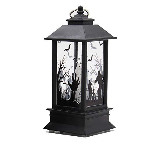 lightclub Halloween Decorative LED Lamp Castle Pumpkin Graveyard Spooky Bar Party Light 3#