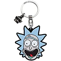 Chaveiro de Borracha Rick Rick And Morty Oficial Beek Geek'S Stuff Azul
