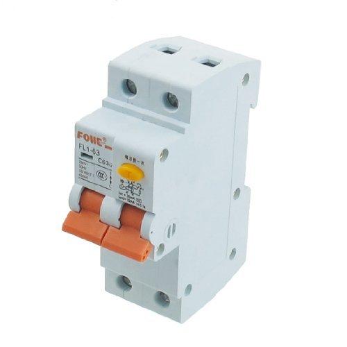 DealMux AC 230V 63A 1 Pole 2P Overload Protection Miniature Circuit Breaker