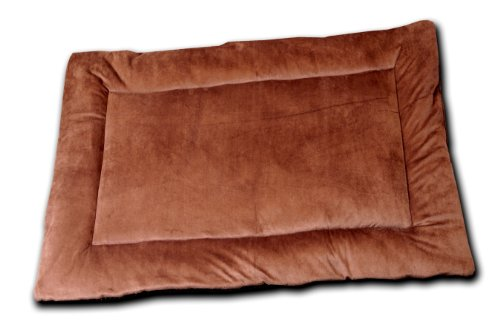 HappyCare Textiles Long Rich HCT MAT-001 Solid Super Touch Micro Mink Dog and Pet Bed, Chocolate