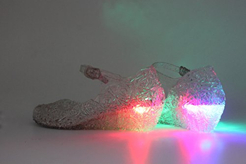 c52ca532cc1 Kontai Jelly Sandal for Girls with LED Light Heel Princess Girls  Sparkle  Dress Up Cosplay