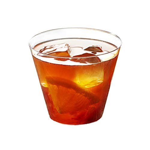 (Toasted Drinkware Premium Hard Plastic Clear 9 oz Party Cups/ Old Fashioned Tumblers, 100 Count)