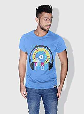 Creo Turn It Up Trendy T-Shirts For Men - S, Blue