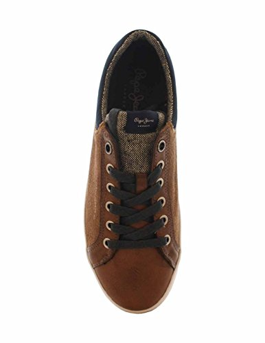 Jeans Basses Sneakers Homme Sculpture Marron Mix North Pepe zR8ww